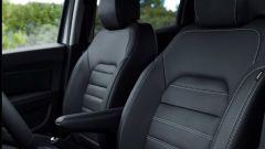 Nuova Dacia Duster 2018: dettaglio dei sedili anteriori