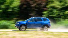 Nuova Dacia Duster TCe 100 ECO-G, la fiancata
