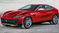 Nuova Ferrari Purosangue: un rendering del SUV di Maranello. Sarà cosi?