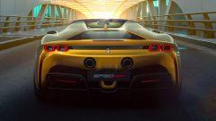 Nuova Ferrari SF90 Spider 2021: i tubi di scarico alti