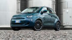Nuova Fiat 500 Elettrica: 3/4 anteriore