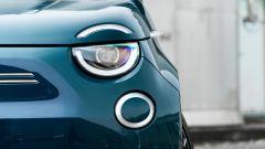 Nuova Fiat 500 Elettrica: dettaglio frontale