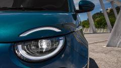 Nuova Fiat 500 elettrica, fari anteriori