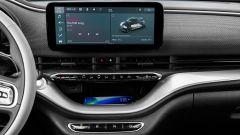 Nuova Fiat 500 elettrica, il display di navigazione