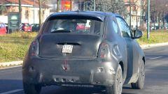 Nuova Fiat 500e: vista posteriore