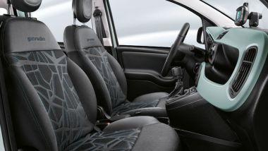 Nuova Fiat Panda Hybrid: i rivestimenti dei sedili in tessuto ecologico