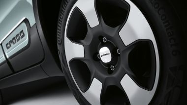 NUova Fiat Panda Hybrid Launch Edition: i cerchi in lega leggera da 15'' con design specifico