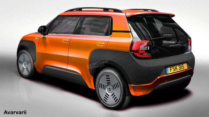 Nuova Fiat Panda: il 3/4 posteriore