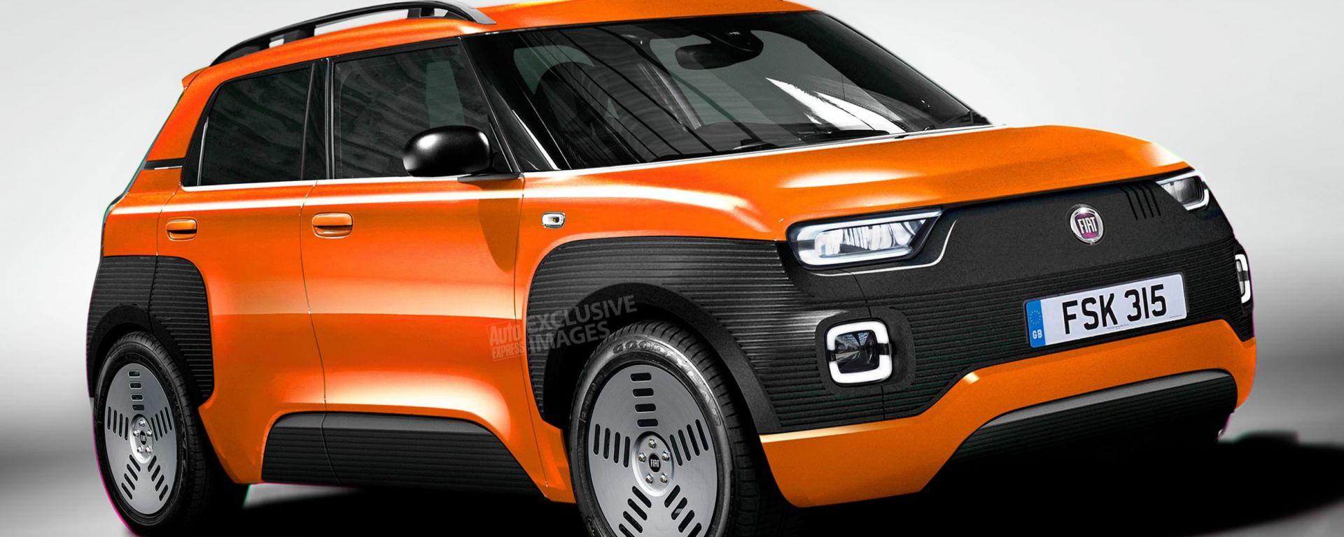 Nuova Fiat Panda: il rendering di Avarvarii