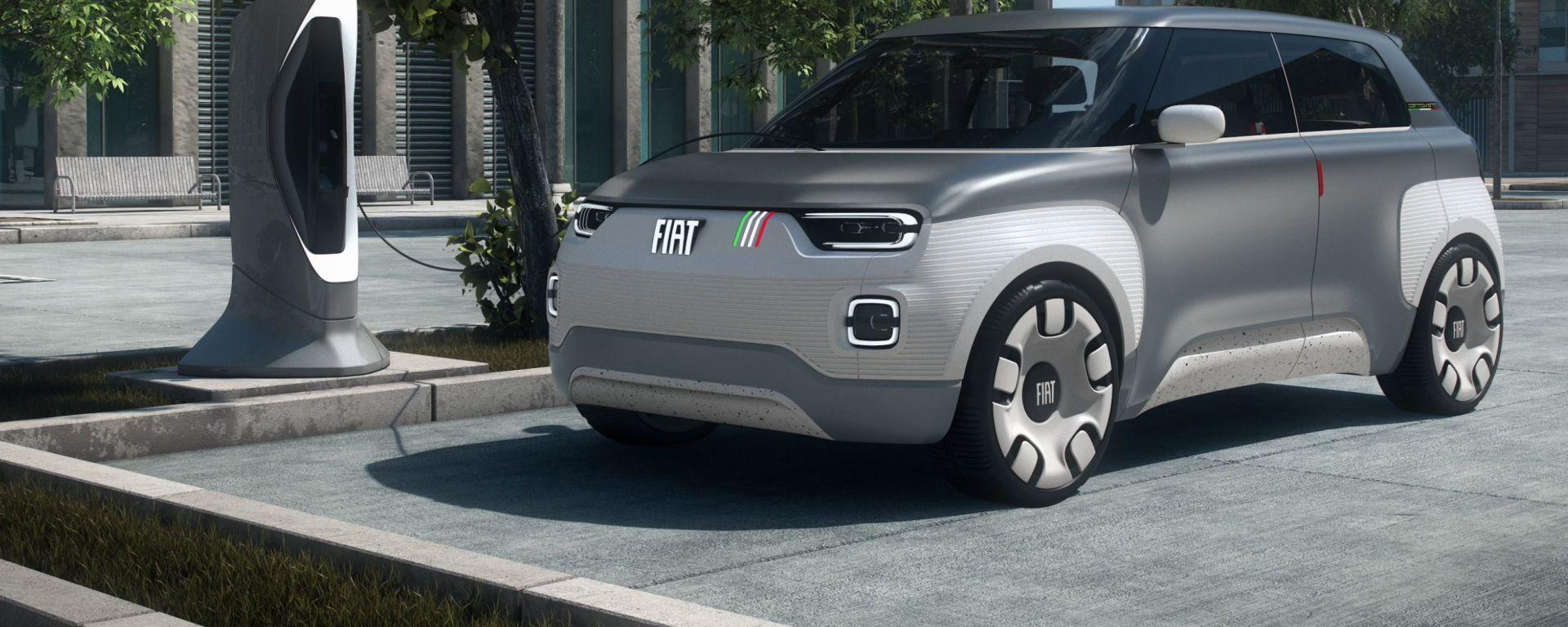 Nuova Fiat Panda, ipotesi pianale Centoventi Concept
