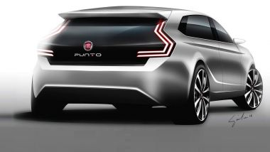 Nuova Fiat Punto: un vecchio rendering del posteriore
