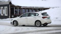 Nuova Fiat Tipo 2021 ripresa nei test sulla neve