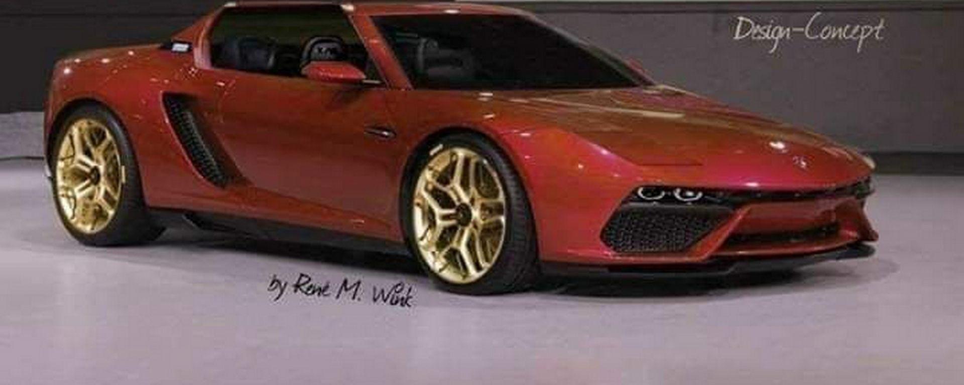 Nuova Fiat X1/9, il progetto grafico del designer René M. Wink