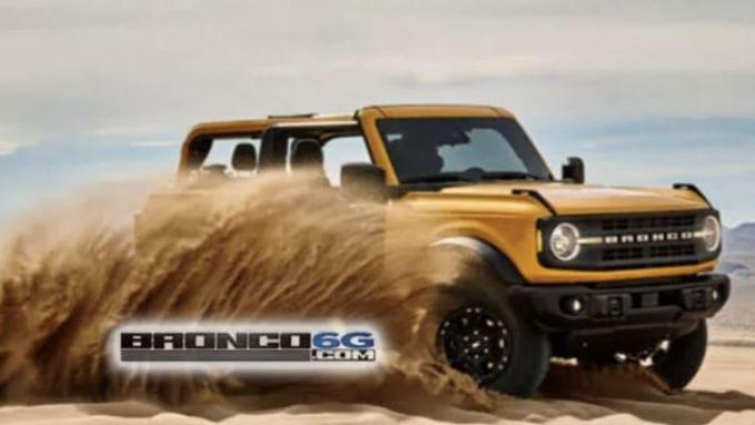 Nuova Ford Bronco, la prima foto ufficiale