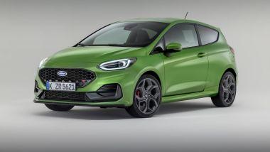 Nuova Ford Fiesta 2021, versione ST: visuale di 3/4 anteriore