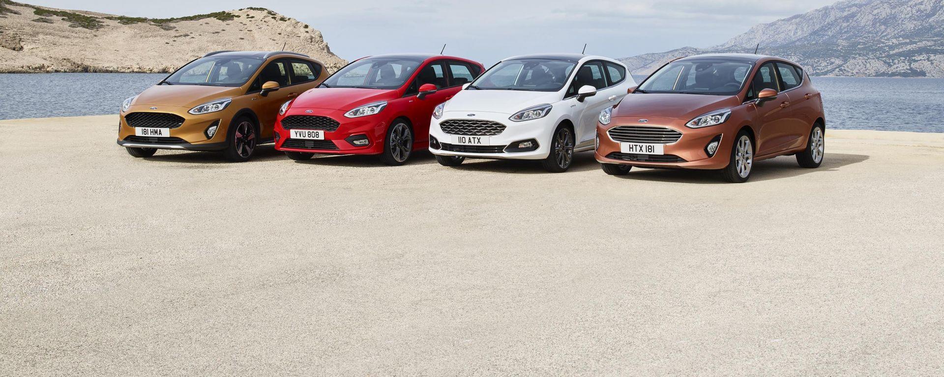 Nuova Ford Fiesta: le 4 varianti della nuova generazione della piccola dell'Ovale Blu