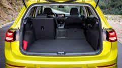 Nuova Golf 8, 380 litri di capacità di carico