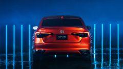 Nuova Honda Civic 2021: la coda del prototipo