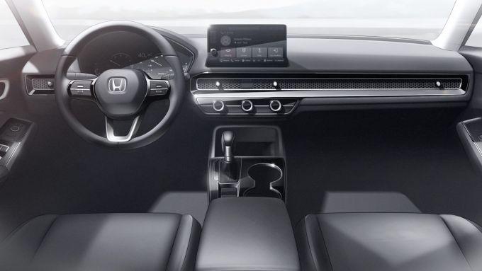 Nuova Honda Civic 2021: l'abitacolo inedito della compatta giapponese