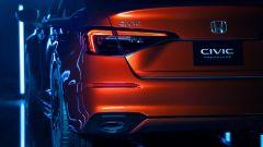 Nuova hondA Civic 2021 prototipo: dettaglio del gruppo ottico posteriore