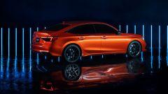 Nuova hondA Civic 2021 prototipo: si noti il profilo del finestrino posteriore