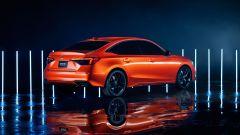 Nuova hondA Civic 2021 prototipo: vista 3/4 posteriore