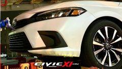 Nuova Honda Civic 2022: dettaglio del frontale