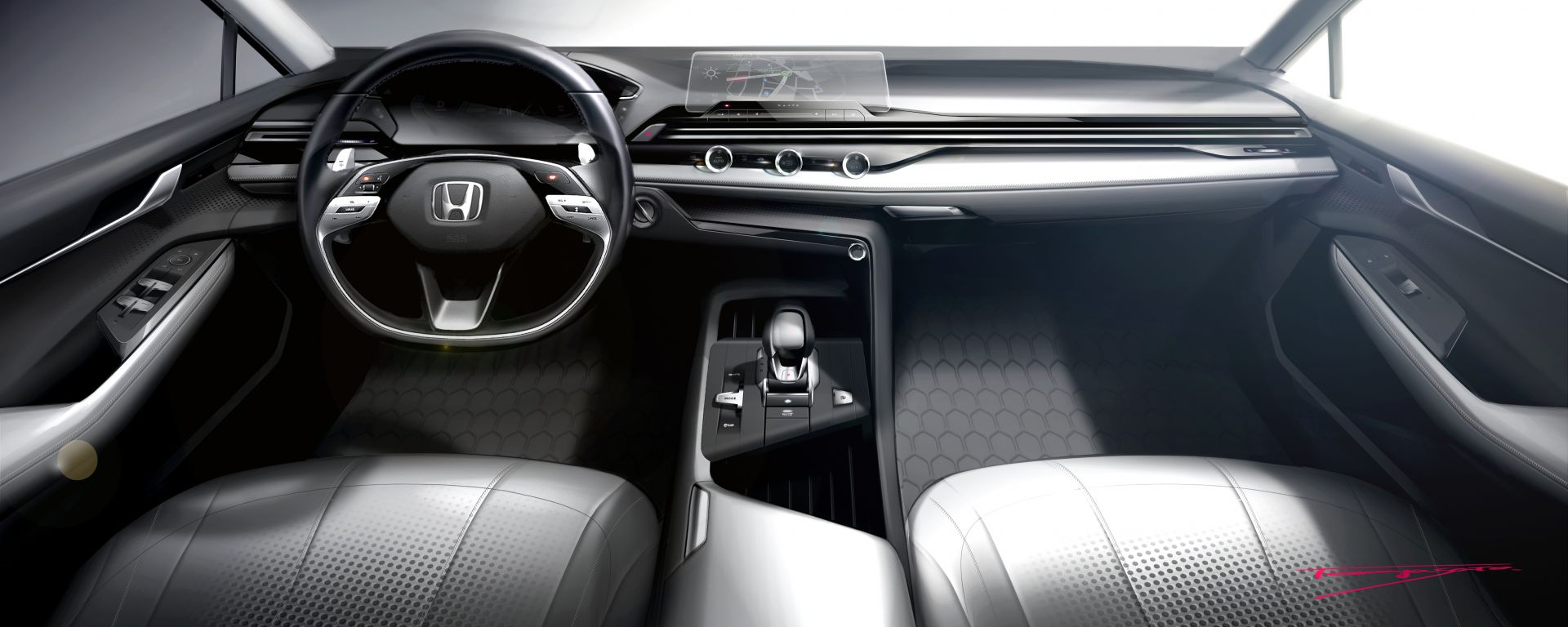 Nuova Honda Civic 2022, il teaser degli interni
