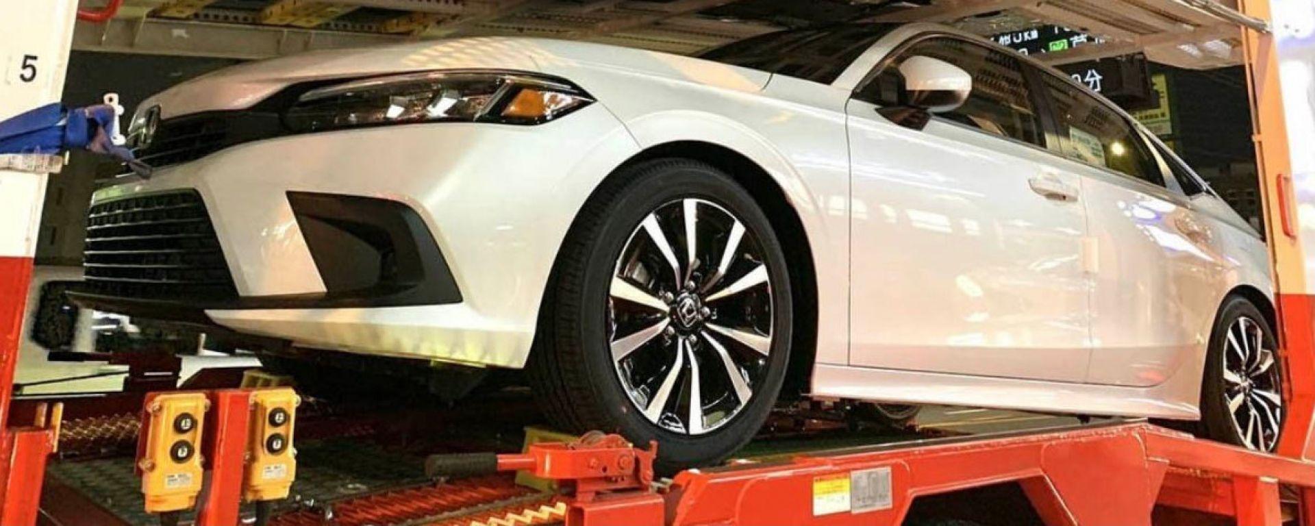 Nuova Honda Civic 2022: nuove foto sfuggite in Rete