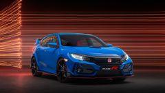 Nuova Honda Civic Type-R 2020: modifiche al frontale e in coda