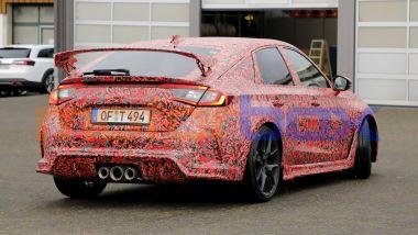 Nuova Honda Civic Type R: un'ala posteriore così non si era mai vista
