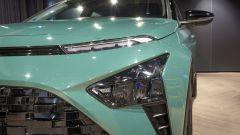 Nuova Hyundai Bayon: le luci diurne e i fari principali a LED
