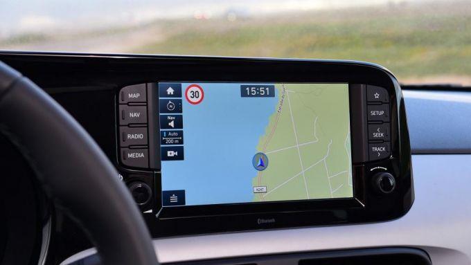 Nuova Hyundai i10 2020: il display da 8'' del navigatore