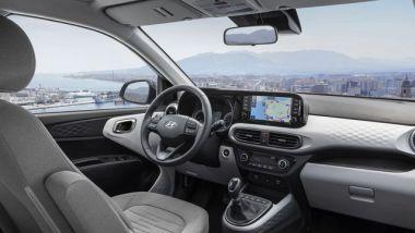 Nuova Hyundai i10 2020: l'abitacolo rinnovato