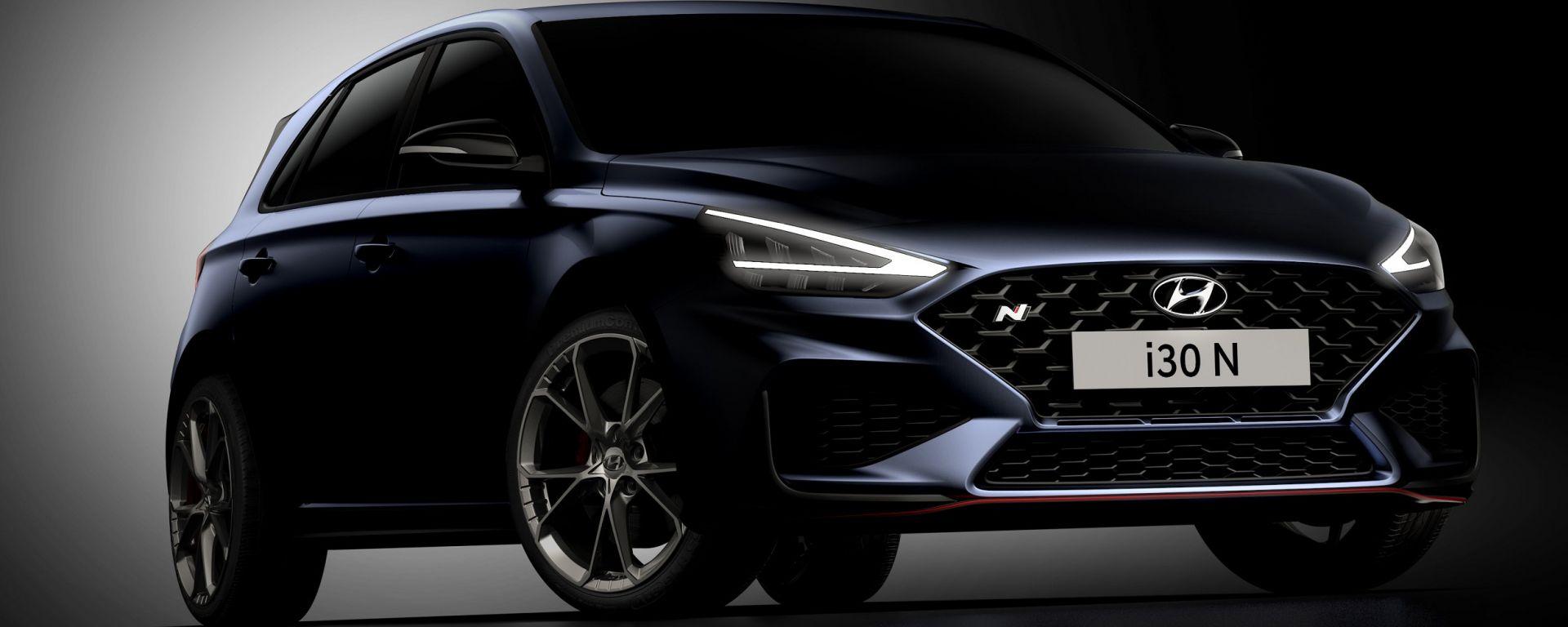 Nuova Hyundai i30 N, primi teaser