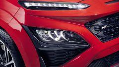 Nuova Hyundai Kona 2021: un dettaglio dei nuovo fari anteriori a LED della N Line