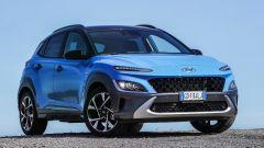 Nuova Hyundai Kona Hybrid: una vista di 3/4 anteriore