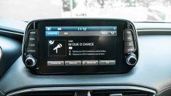 Nuova Hyundai Santa Fe 2019: lo schermo dell'infotainment