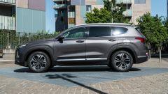 Nuova Hyundai Santa Fe 2019: vista laterale