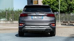 Nuova Hyundai Santa Fe 2019: vista posteriore