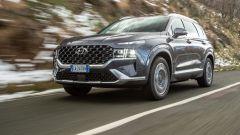 Nuova Hyundai Santa Fe: visuale di 3/4 anteriore