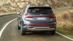 Nuova Hyundai Santa Fe: visuale posteriore
