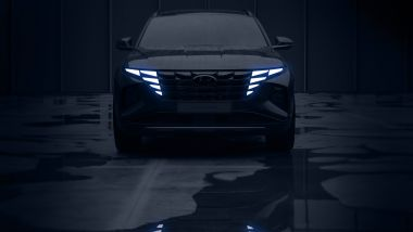Nuova Hyundai Tucson, la vista frontale svela le Parametric Hidden Lights