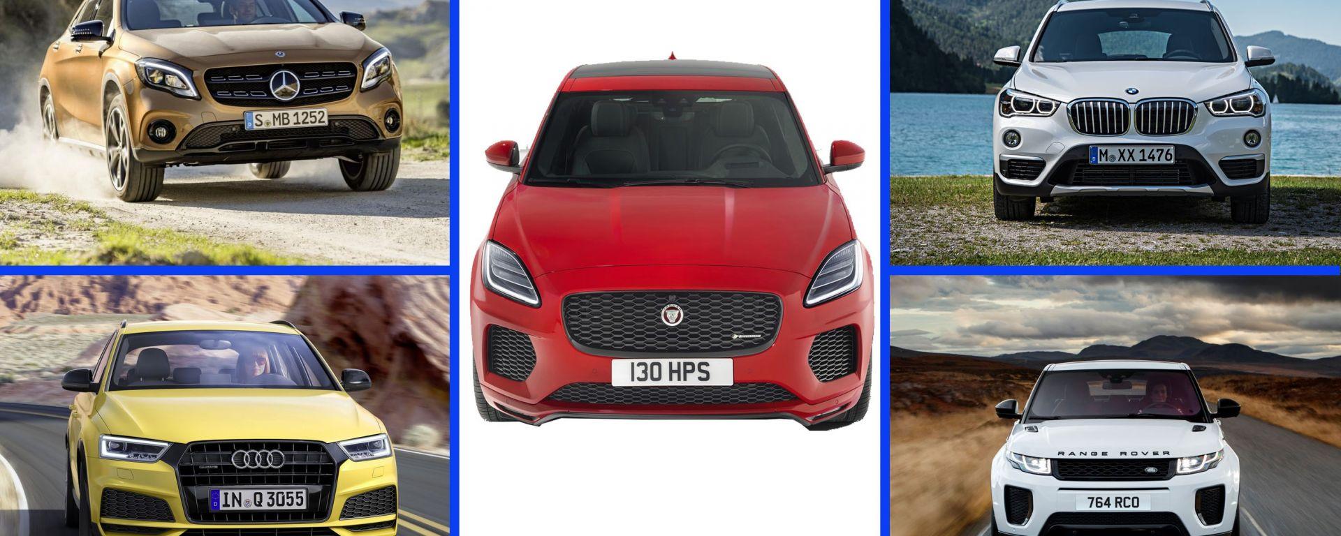 Nuova Jaguar E-Pace: le concorrenti
