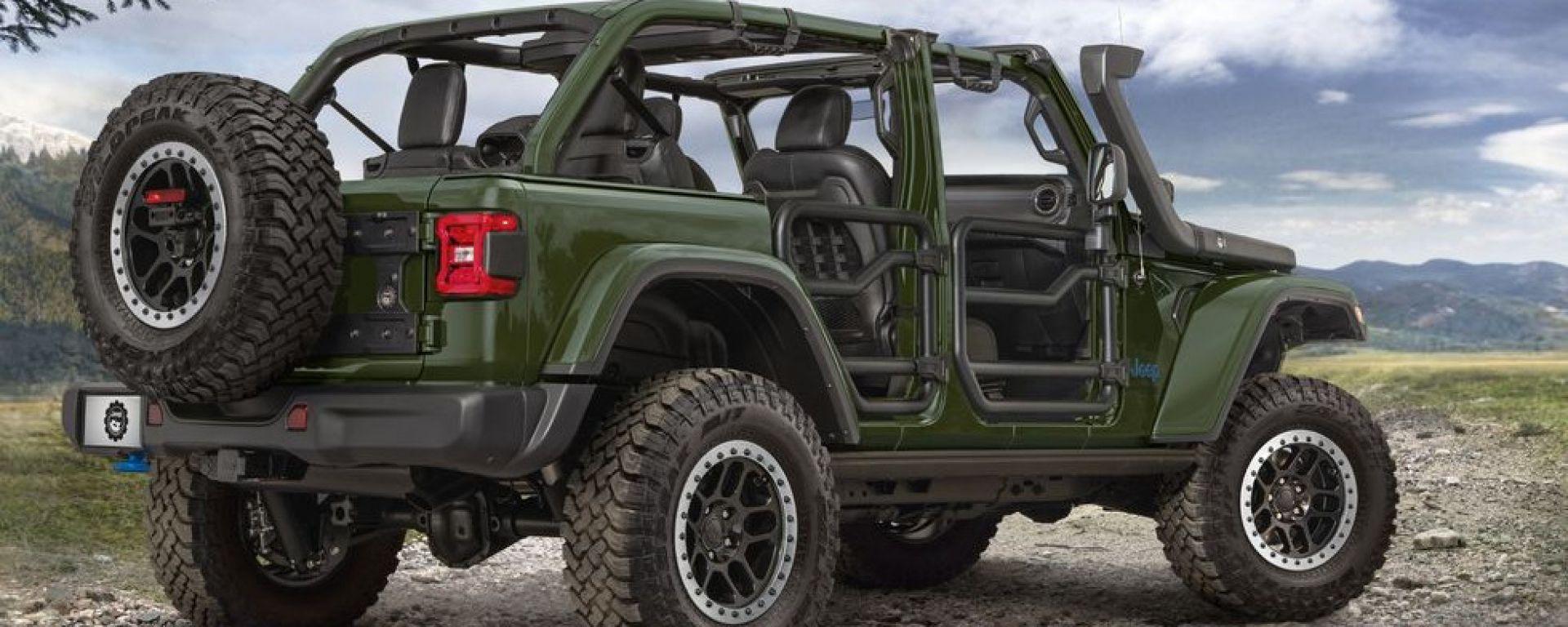 """Wrangler 4xe Performance Parts: una Jeep """"green"""" pronta a tutto"""