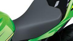 Nuova Kawasaki Ninja 400: la sella è comoda e ben imbottita