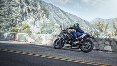 Nuova Kawasaki Ninja 650 2020: l'impianto frenante prevede un doppio disco all'anteriore