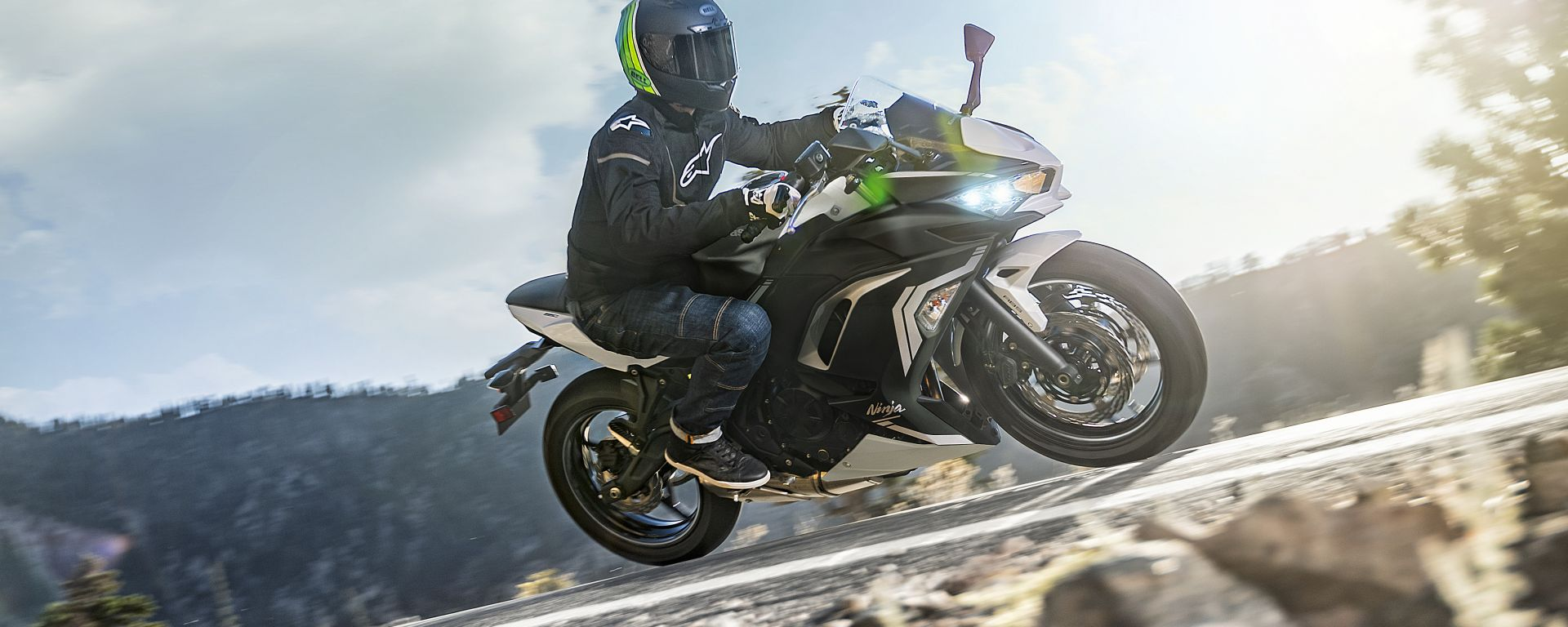 Nuova Kawasaki Ninja 650 2020: vista laterale