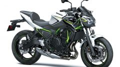Nuova Kawasaki Z650: nel colore bianco/nero