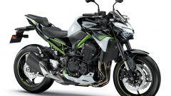 Nuova Kawasaki Z900: bianca e nera con telaio verde